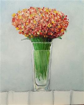 Jorge Garcia-Sainz - Flowers Oil on Canvas, Paintings