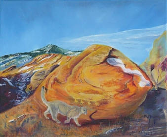 Mark W. Malone - Ancestral Trail Oil on Canvas, Paintings