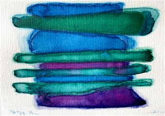 Petra Bernstein - Serenity Stack 9 Watercolor on Hahnemühle Paper, Paintings