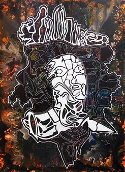 Henrik Sjöström - Mister Unadvised Acrylic & Spraypaint on Canvas, Paintings