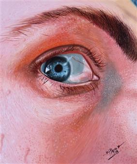 Roberto Tores Pare Mouamfon - Focus Acrylic on Canvas, Paintings