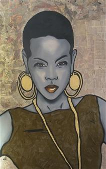 Sydnei SmithJordan - Africa Oil & Acrylic on Canvas, Paintings