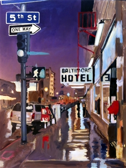 Clare Holzer - Baltimore Hotel Oil on Canvas, Paintings