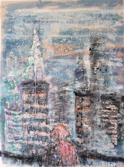 Ana Dávila - New York Mixed Media on Canvas, Mixed Media