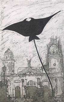 Juan Salazar - From the Series Contracorriente 13 Collograph, Prints