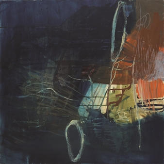 Gerlinde Amei Wöllmer - Dark and Light Acrylic and Chalk on Canvas, Mixed Media