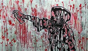 Henrik Sjöström (El Bastardo) - Shamsia Hassani Acrylic & Spraypaint on Canvas, Paintings