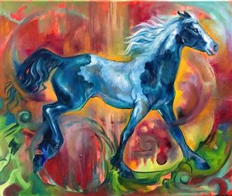 Jenny Blomquist - Jubilance Oil on Canvas, Paintings