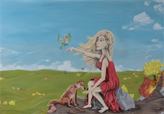 David Pallua - Devotion Acrylic on Canvas, Paintings