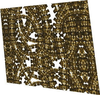 Stacey Dolen - Brass Composition 24 Digital Print on Aluminum, Digital Art