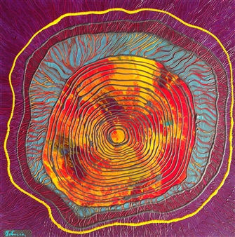 Patricia Gray - Lure of the Rings II Acrylic on Birch, Paintings
