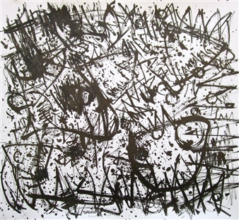 Ken Wada - Where is the Soul of the Trees? No.47 India Ink on Paper, Drawings