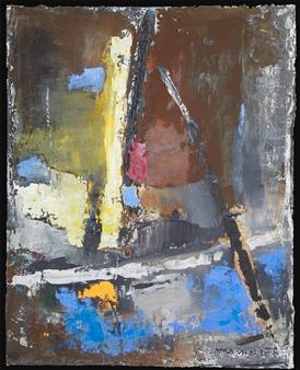 Ludwig Mannhalter - No. 6 Acrylic, Oil & Mixed Media on Canvas, Mixed Media
