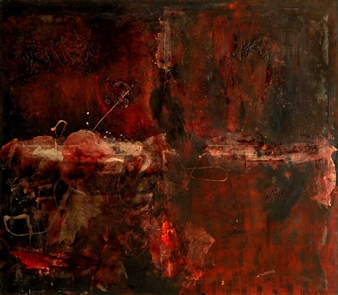 Irma Lescinskaite - Tattooed Abstract II Oil on Canvas, Paintings