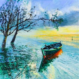 Deana Evstefeeva - High Waters Oil on Canvas, Paintings