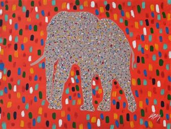 Carlos E. Porras M. - Simiricuiri Acrylic on Canvas, Paintings