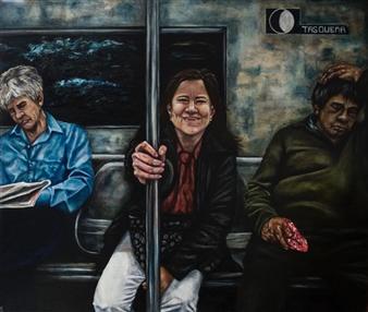 Vanessa Vilchis - La Felicità Nascosta Nei Visi Terreni Oil on Canvas, Paintings