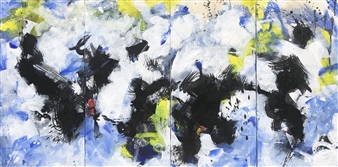 KEO - Cloud Dance Acrylic & Ink on Canvas, Paintings