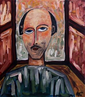 Iva Milanova - The Window Oil on Canvas, Paintings