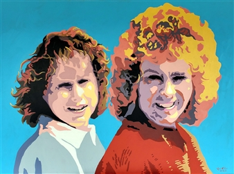 RW Fuller - Linda and Vicki at Laughlin Acrylic on Canvas, Paintings