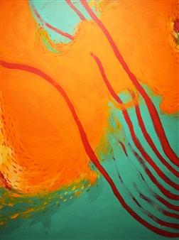 Orianna Montenegro - Recapture III Acrylic & Oil on Canvas, Paintings