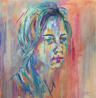 Grady Zeeman - Contemplation Oil on Canvas, Paintings