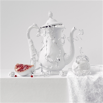 Art Golacki - Still Life in White with Pomegranate / second variation Archival Pigment Print, Photography
