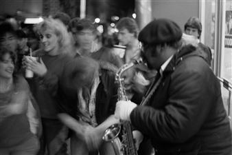 Paris Gray - Sax Player Photograph on Fine Art Paper, Photography