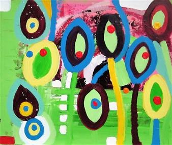 Claudia Mini - Es Dreht Sich Acrylic on Canvas, Paintings