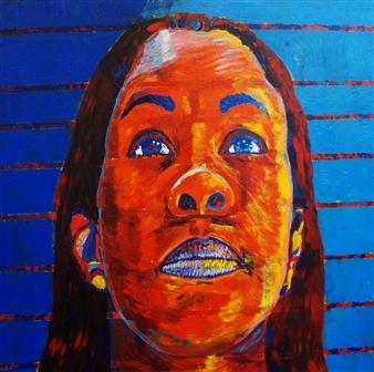 Markeith Woods - Now Faith Acrylic on Canvas, Paintings