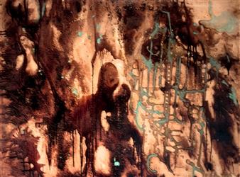 Fariba Baghi - No: 6 Mixed Media on Canvas, Paintings
