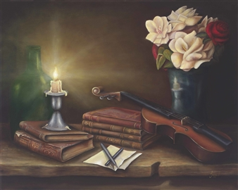 JANINA Leigue - Candle for the Writer Giclee, Prints
