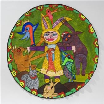 Paula Sayago Lundin - Ecosystem Mixed Media on Fabric, Mixed Media
