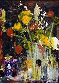 Pauline Rakis - Splash of Color Acrylic on Canvas, Paintings