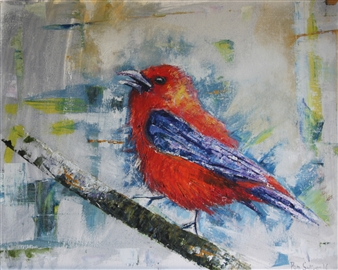 Pamela Sullivan - The Tanager Oil on Canvas, Paintings