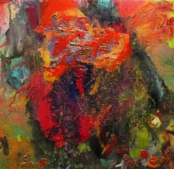 Maria Medrano - Nebulae Oil, Acrylic, Gesso, Resin on Canvas, Mixed Media