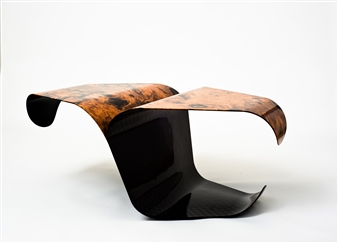Iftah Geva - Table - Jihad Carbon Fiber and Wood, Sculpture
