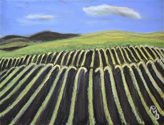 Raul Mariaca Dalence - Sonoma 3 Pastel on Canvas, Paintings