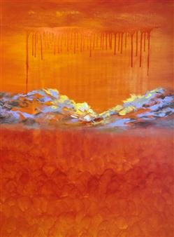 Christiane Palpant - Lever d'Orange II Oil on Canvas, Paintings