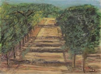 Raul Mariaca Dalence - Calistoga 1 Pastel on Canvas, Paintings