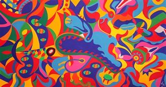 Diego Velez - Evolución Acrylic on Canvas, Paintings