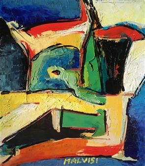 Malvisi - Primordial Oil on Wood, Paintings
