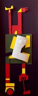 Julio Lopez Vietri - Where to II Mixed Media on Cardboard, Mixed Media