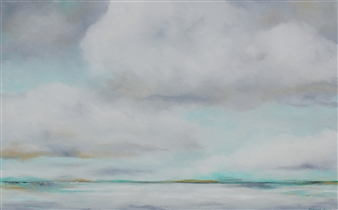 Elizabeth Sabine - Seascape No. 69 Oil on Canvas, Paintings