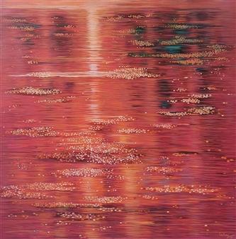 Madhuri Bhaduri - Reflections 7 Oil on Canvas, Paintings