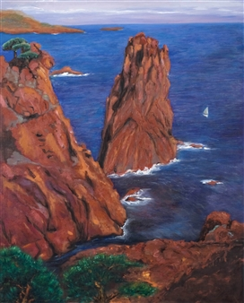 Garese - Costa Brava Oil on Canvas, Paintings