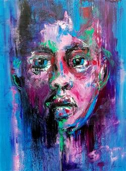 Lillian Gray - Habika - My Sweetheart Oil on Canvas, Paintings