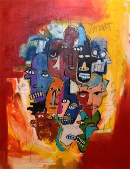 "Bulsby ""Buzz"" Duncan - Identity Oil & Mixed Media on Canvas, Mixed Media"