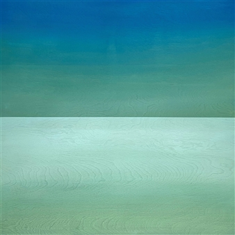 Chadwick - Cerulean Sky (Viridian Sky) Acrylic on Wood Panel, Paintings
