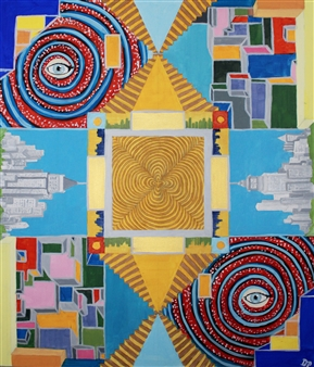 David Pallua - Third Dimension Acrylic & Vinyl on Canvas, Paintings